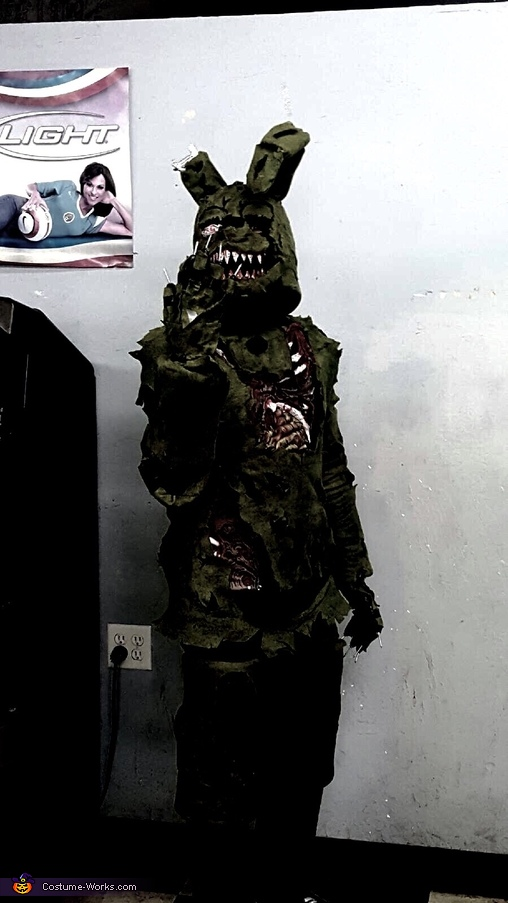 five nights at freddys springtrap homemade costume