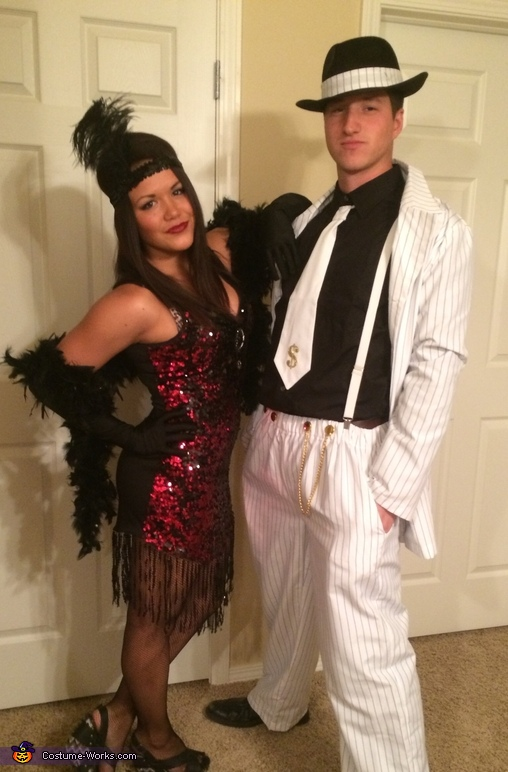 Flapper and Gangster Homemade Costume