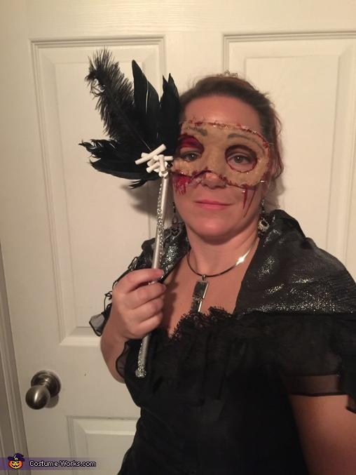 Face mask on, Flesh Masquerade Costume