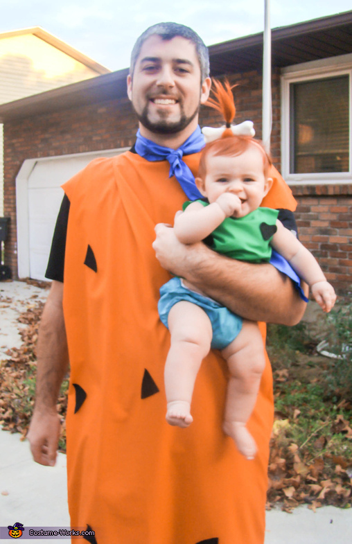 Fred and Pebbles, Flintstones Family Costume