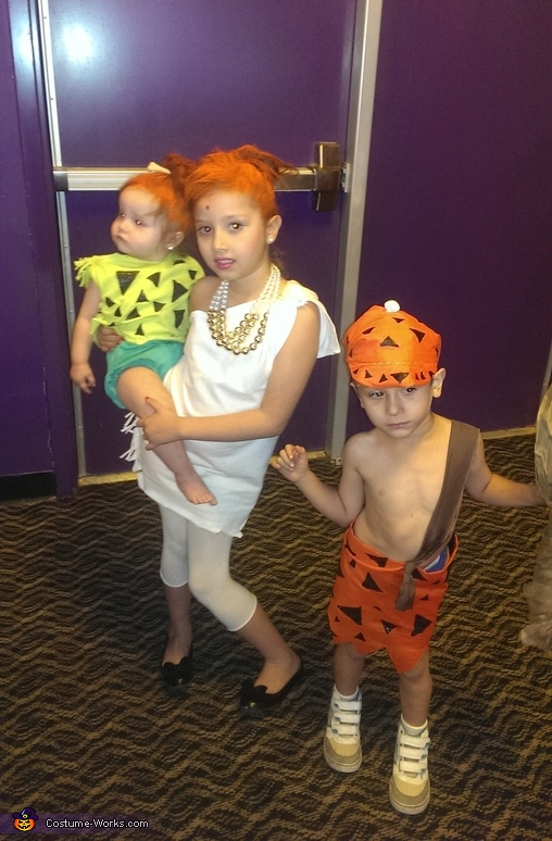Flintstones Wilma, Pebbles and Bam Bam Costume