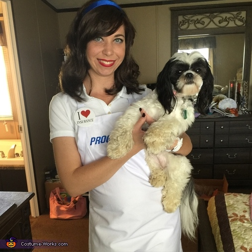 Flo and her dog, Flo from Progressive Costume