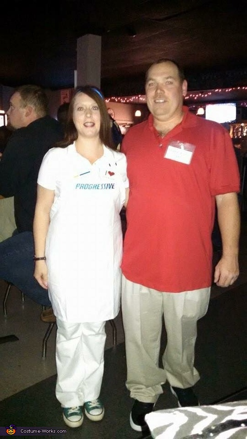 Flo from Progressive & Jake from State Farm Costume