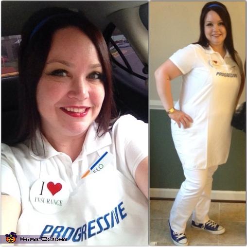 Flo, the Progressive Girl Homemade Costume