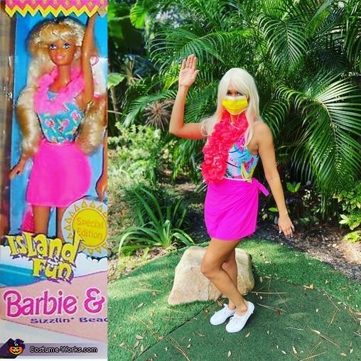 COVID Barbie, Florida Fun Covid edition Barbie Costume