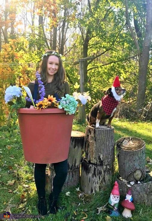 Flower Pot & Gnome Homemade Costume