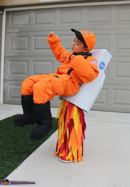 Flying Astronaut Homemade Costume