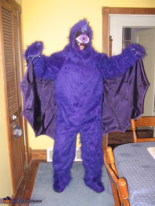 One-eyed One-horned Flying Purple Monster Costume