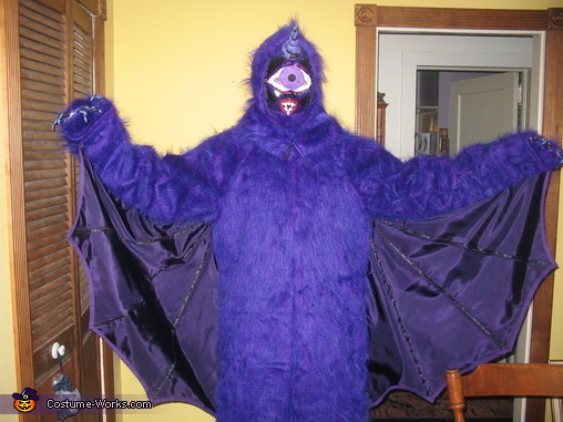 One-eyed One-horned Flying Purple Monster Costume