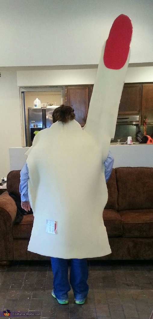 Back View Test Run, Foam Finger & Robin Thicke Couple's Costume