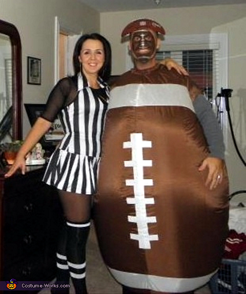 Football and Referee Couples Halloween Costume