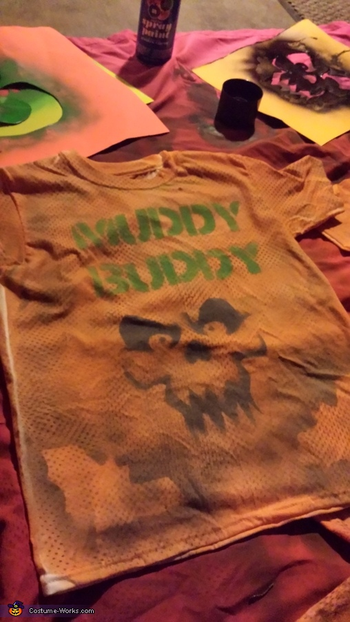 Football Team Muddy Buddy Homemade Costume