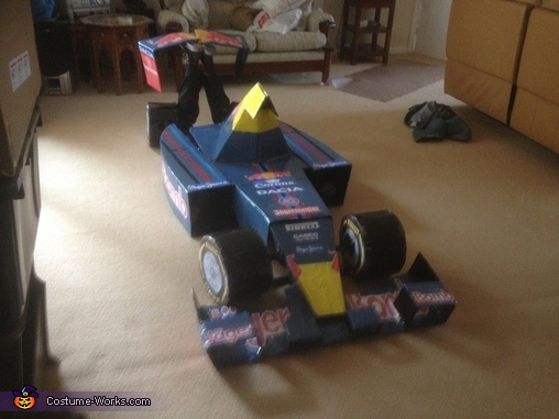 Finished Article, Formula One Car and Pit Crew Group Costume