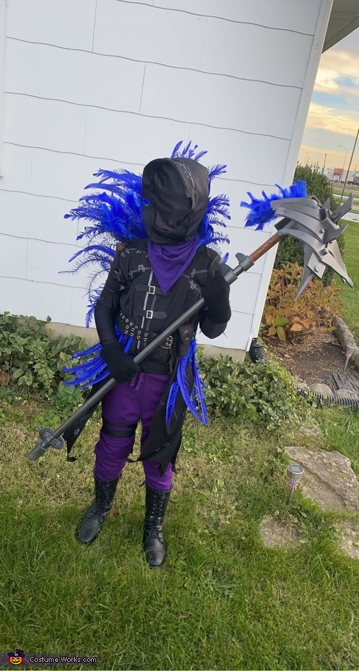 Fortnite Raven Homemade Costume