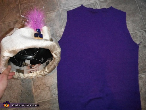 Hat and sweater, DIY Fortune Teller Costume