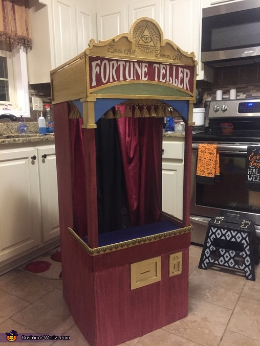 Curtains, trim, and detils are added!, Fortune Teller Machine Costume