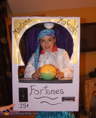 Fortune Teller Machine Homemade Costume