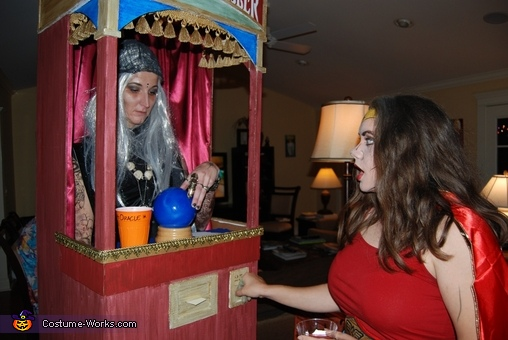 Here you can see the fortune dispensaing from the slot., Fortune Teller Machine Costume