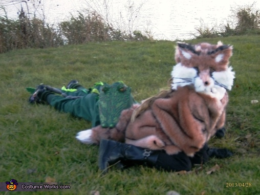 Fox says 'ouch'., Fox and Gator Costume