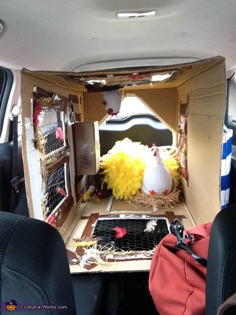 The view from my rear view mirror. No room for kids!, There's a Fox in the Henhouse! Costume