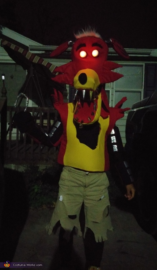 In the dark to show eyes, Foxy Costume