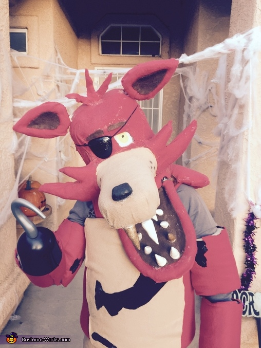 Here is a close-up, Foxy from Five Nightts at Freddy's Costume