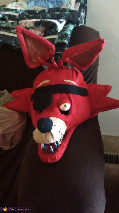 The head of foxy, Foxy the Pirate Costume