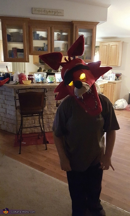 Eye glowing test, Foxy the Pirate Costume