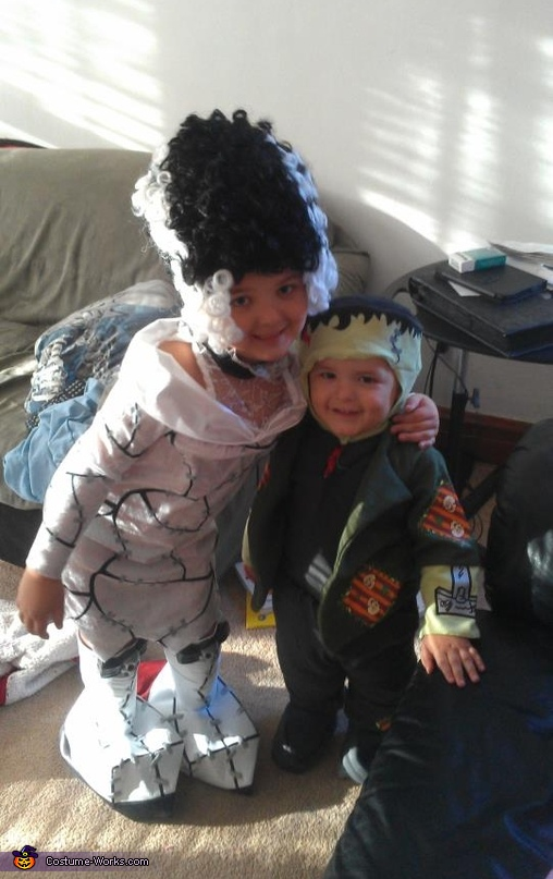 Frankenstein And The Bride Of Frankenstein Costumes For Kids