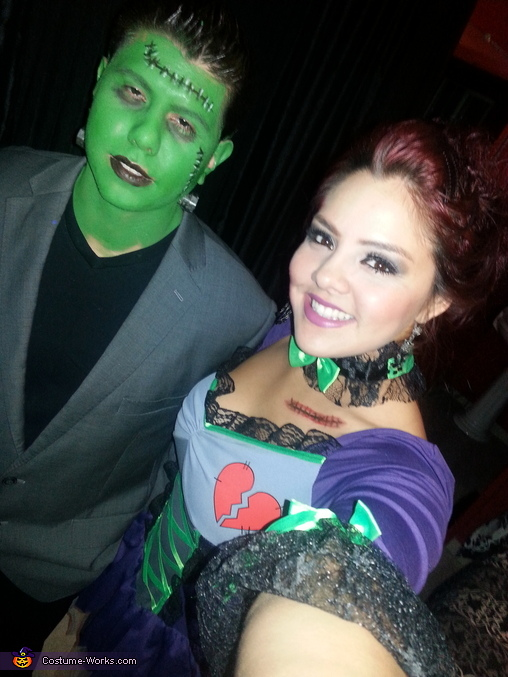 Frankenstein and his Bride Couple's Costume