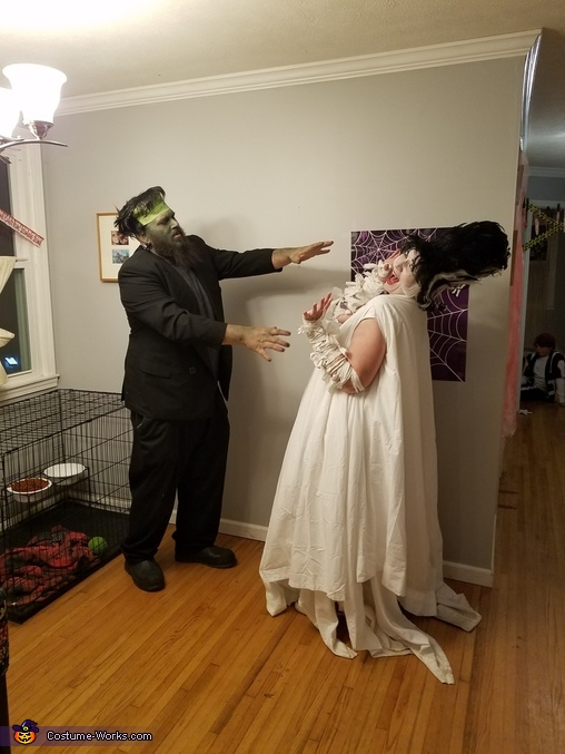 You will be mine, Frankenstein and his Monster Bride Costume