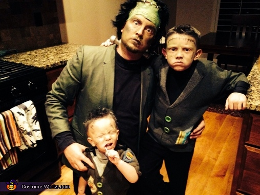 Here are just the boys , Frankenstein Family Costume