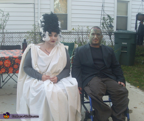 Frankenstein And His Bride Homemade Halloween Costume