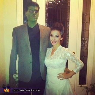 Frankenstein & the Bride of Frankenstein Couple Costume