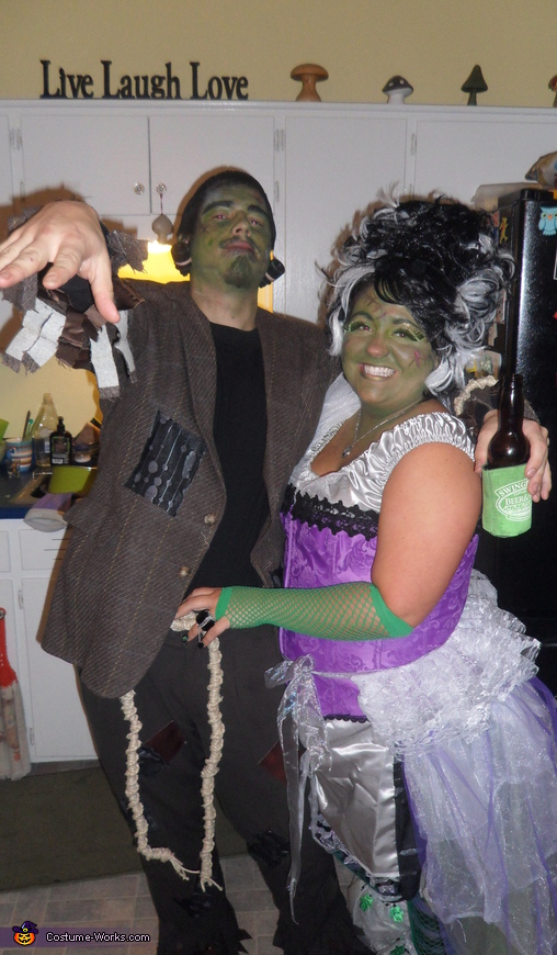 Frankenstein & his Bride Couple's Costume