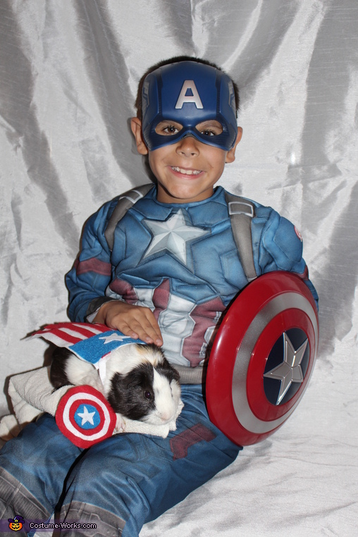 Captain America Dynamic Duo, Frankie the Guinea Pig Costume