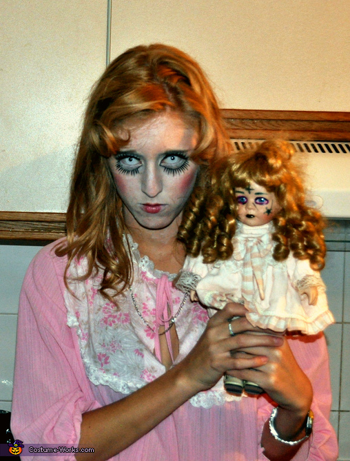 And this is me with my little zombie doll, Freakin' Doll Costume
