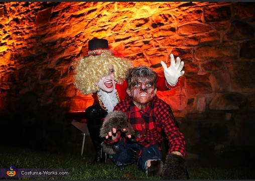 Ringmaster and wolf boy, Freakshow Costume