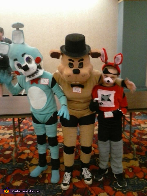 Freddy Fazbear, Toy Bonnie and Foxy the Pirate Homemade Costume