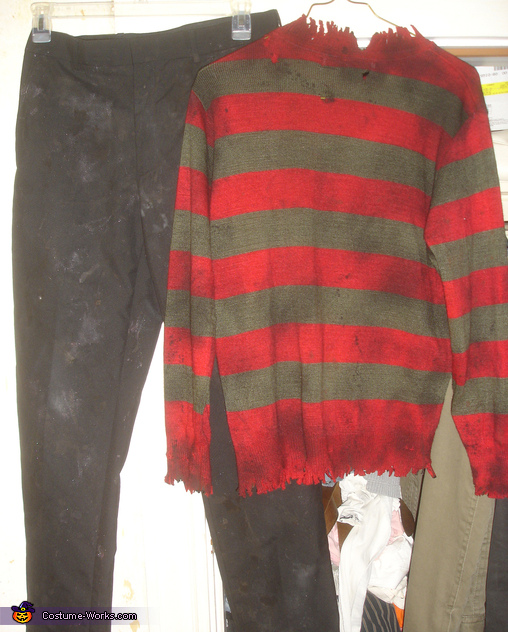 The weathered clothes, Freddy Krueger Costume