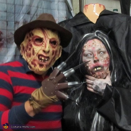 Freddy Krueger and Headless Woman Costume