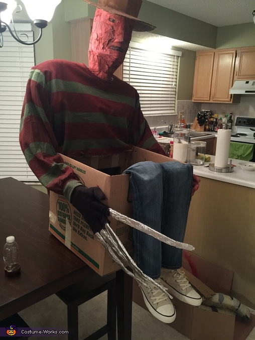 Freddy Krueger and his Victim Homemade Costume