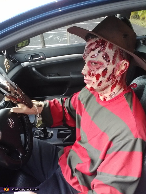 freddy driving, Freddy Kruger Costume