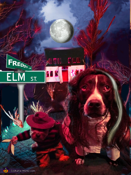 Freddy & Nancy from A Nightmare on Elm Street Dogs Costume