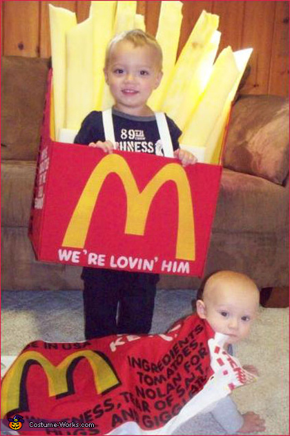 French Fries and Ketchup Packet Costume