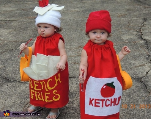 French Fries and Ketchup Costume