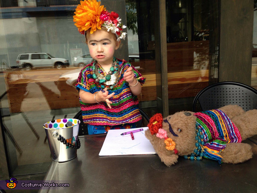 Frida 2 Frida Kahlo Costume  sc 1 st  Costume Works & Frida Kahlo Toddler Costume - Photo 2/2