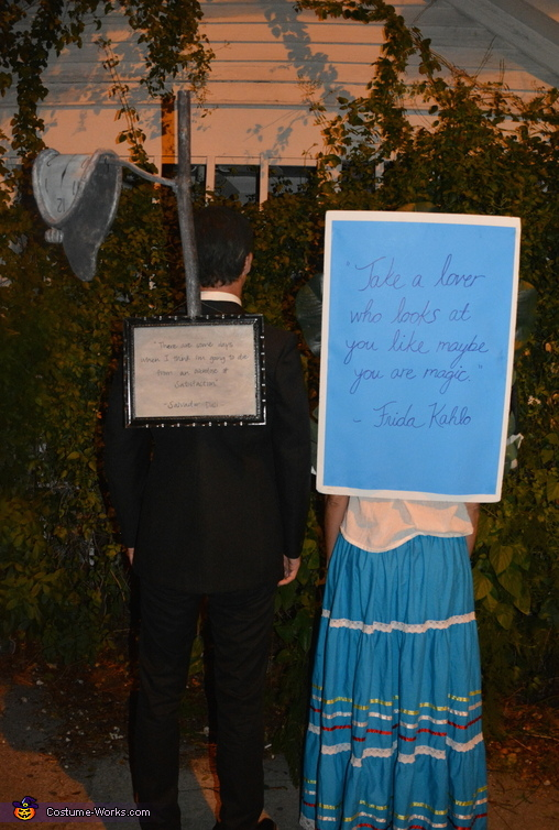 Great quotes from Frida and Dali, Frida Kahlo and Salvador Dali Costume