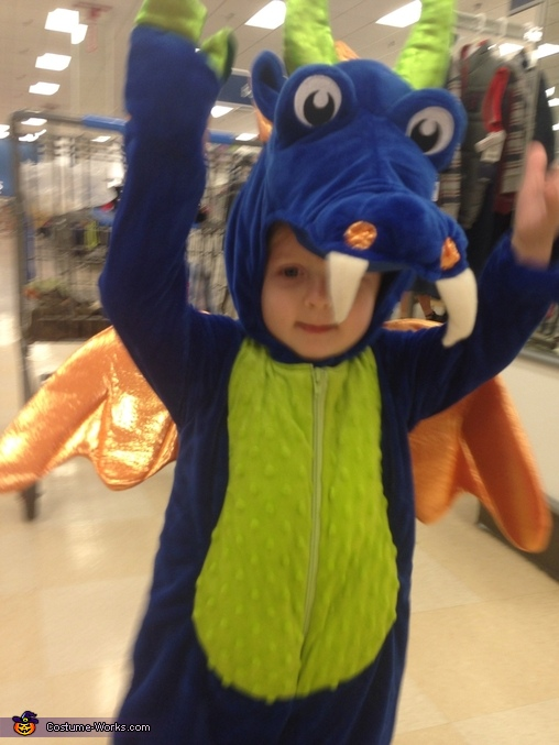 Getting ready to soar!, Friendly Dragon Costume