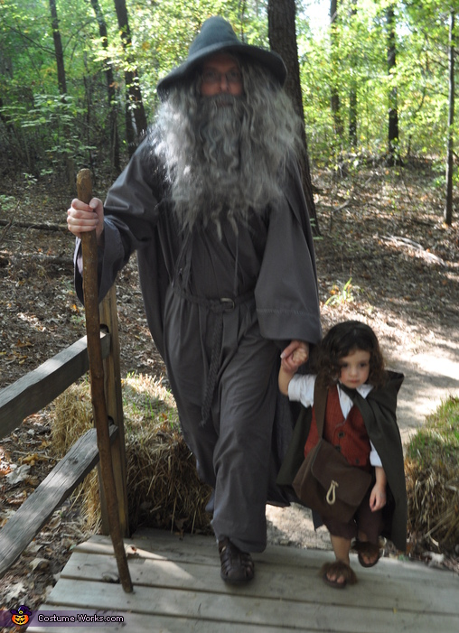 starting out on or journey, Frodo and Gandalf Costume